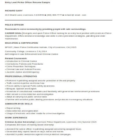 Entry Level Officer Resume by Sle Officer Resume 7 Exles In Word Pdf