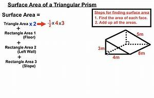 Surface Area of a Triangular Prism - YouTube