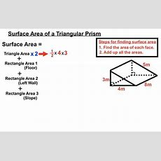 Surface Area Of A Triangular Prism Youtube