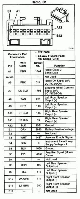 Chevy Radio Wiring Diagram Images