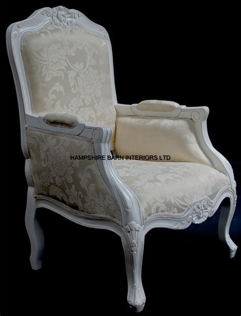 a chateau style ornate arm chair bedroom antique