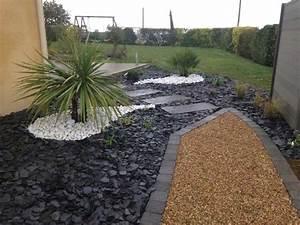 Idee Deco Avec Des Photos : idee deco jardin avec cailloux decor de parterre horenove ~ Zukunftsfamilie.com Idées de Décoration