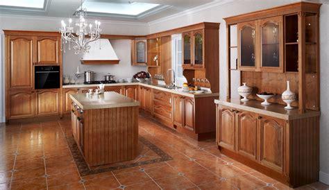 gabinete de cocina clasico de madera solida de lujo
