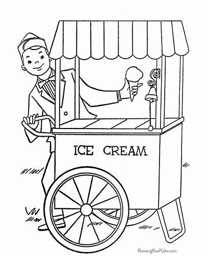 Ice Cream Coloring Pages Parlor