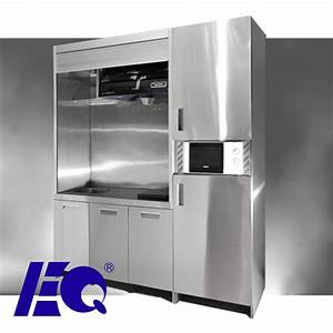 Open kitchen mini pantry cabinet oem stainless steel for Stainless steel kitchen pantry
