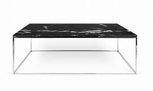 Table Basse Marbre But : table basse avec plateau en marbre noir marquina et pieds en acier ~ Teatrodelosmanantiales.com Idées de Décoration