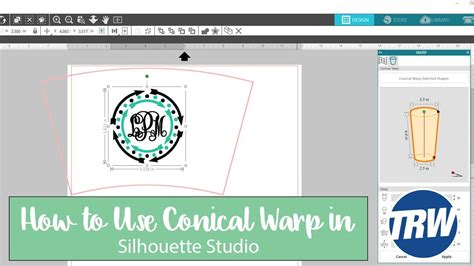 conical pint glass wrap template how to use the new conical warp in silhouette studio