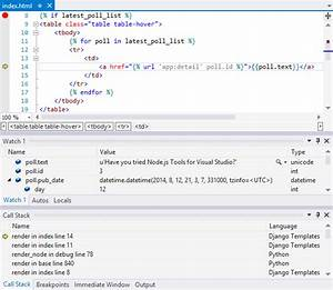 django python visual studio With django template media