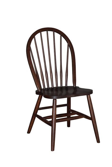 amish 7 spindle bow back dining room chair