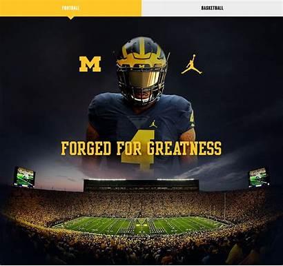 Michigan Jordan Football University Nike Brand Wallpapers