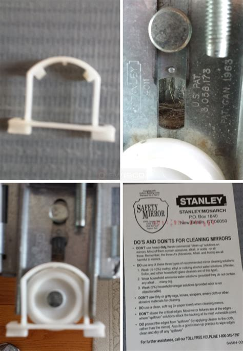 part for a stanley mirror closet sliding door hardware