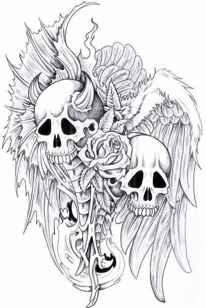 Evil Skull Tattoo Tattoos Drawings Designs Monster