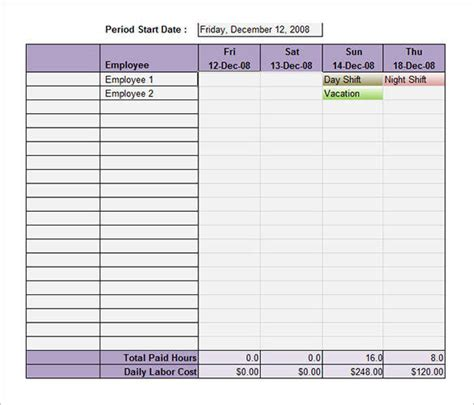employee shift schedule template 64 free schedule sles pdf word excel sle templates