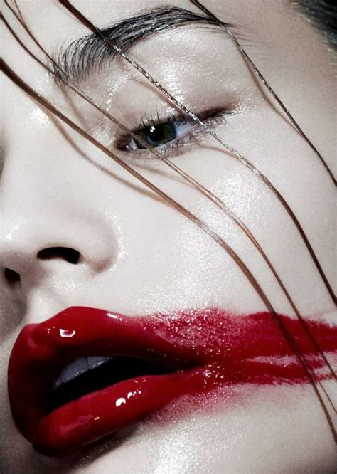 smeared cosmetic captures playing fashion