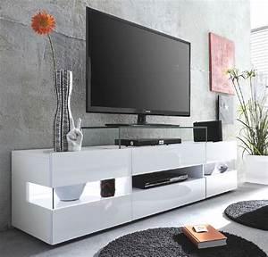 Moderne Tv Lowboards : lowboard sonic hochglanz wei ~ Whattoseeinmadrid.com Haus und Dekorationen