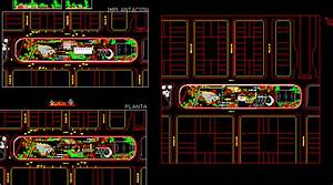 Intervention Ex Train Station 2D DWG Design for AutoCAD