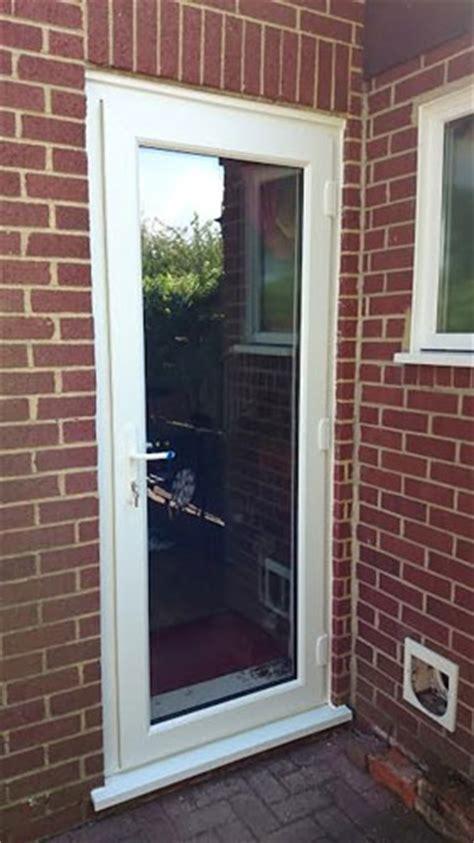 clinton  panel dual glazed upvc  door