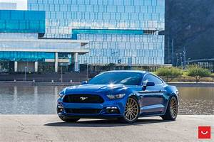 Blue Ford Mustang GT on Bronze Vossen Wheels — CARiD.com Gallery