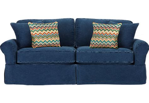 beachside denim sofa home beachside blue sofa sofas blue
