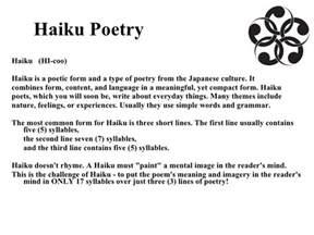 Haiku Poems Examples