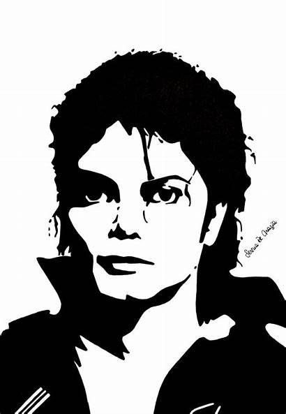 Stencil Stencils Portrait Vector Jackson Michael Drawing
