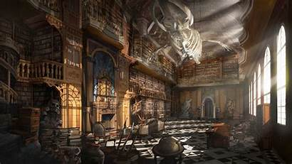 Library Fantasy Grand Concept Environment Imaginary Knowledge