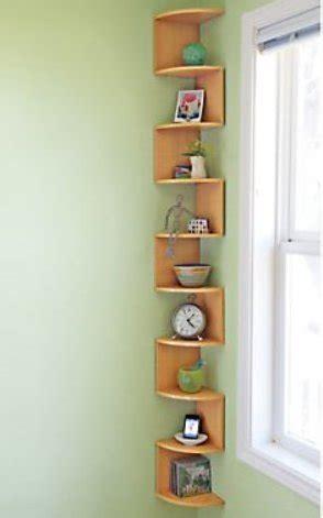 corner wall shelves stackable  tier oak zig zag natural
