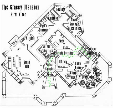 haunted mansion  floor plan wip  shadowdion