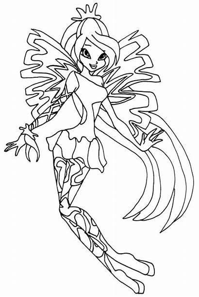 Winx Coloring Bloom Sirenix Ausmalbilder Zum Malvorlagen