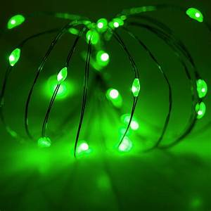 Battery Led Fairy Lights Outdoor Battery Operated Lights 18 Green Battery Operated Led