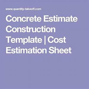 Bid Letter Template Concrete Estimate Construction Template Cost Estimation
