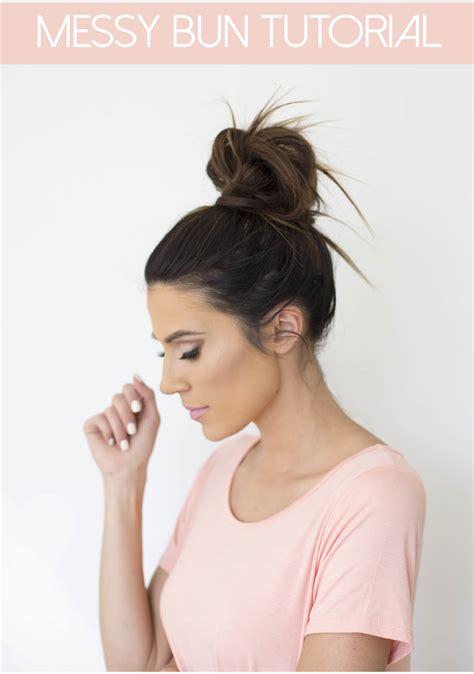 hair buns styles for medium hair bun tutorial hello fashion 5313