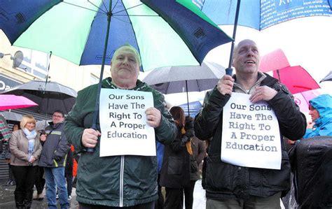 de la salle belfast de la salle college parents stages new protest the news