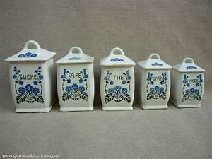 Pots à épices : serie de 5 pots pices en fa ence ~ Teatrodelosmanantiales.com Idées de Décoration