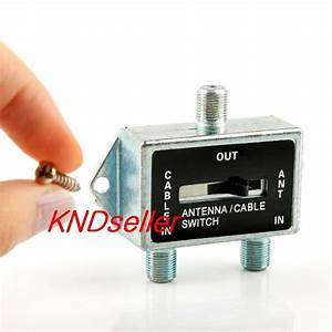2 Way A  B Coaxial Coax Rf Switch Manual Selector Push