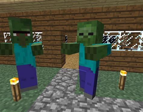 minecraft village zombie door build zombies villagers proof fence villager gates wolves into turn night kill buildings houses torches steve