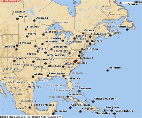 Amerika Ostküste Karte