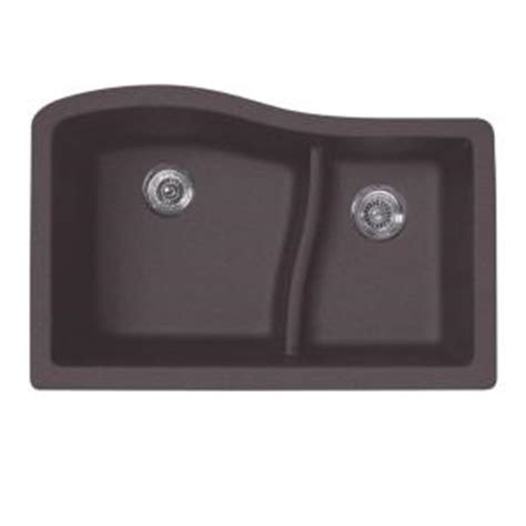 swan undermount granite 32 in 0 hole double basin kitchen