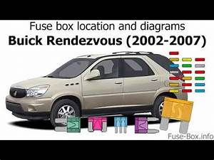 Fuse Box Location And Diagrams  Buick Rendezvous  2002