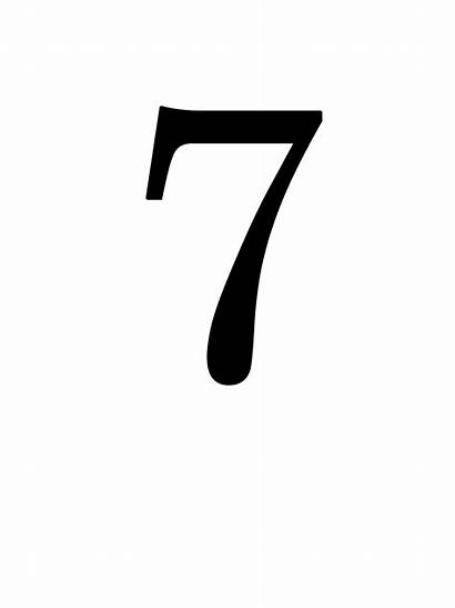 Number Picpng Number7 Pngimg