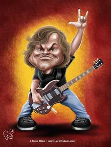 School of Rock, Jack Black | Caricaturas de Famosos ...