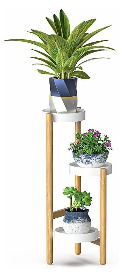 Plant Corner Indoor Bamboo Stands Tall Stand