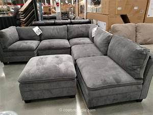 6 piece modular sectional sofa costco sofa the honoroak With 6 piece sectional sofa costco