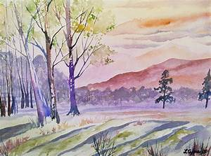 Watercolor - Rocky Mountain Sunset by Cascade Colors