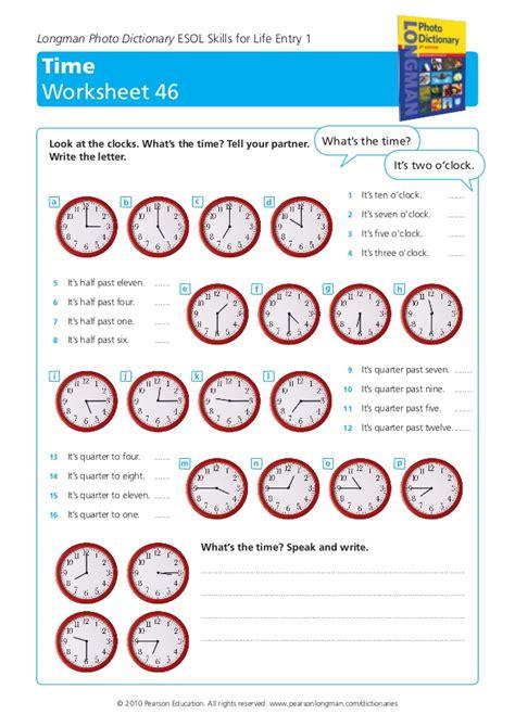 time worksheet  longman