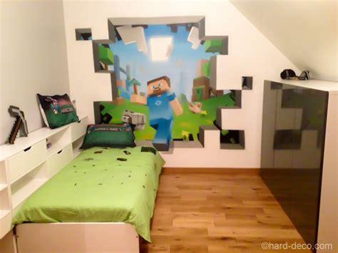 deco murale 224 l aerosol chambre ado jeux vid 233 os minecraft