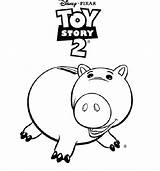 Toy Story Coloring Pages Hamm Sheets Printable トイ ストーリー Colouring Ts2 Disney する アクセス Ecoloring 保存 sketch template