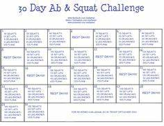30 Day Inner Thigh Challenge | Workout challenge, 30 day ...