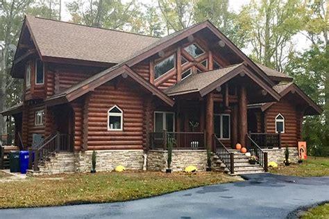 virginia log cabin  timber frame homes  precisioncraft