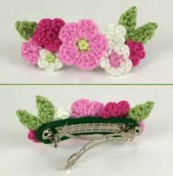 Free Pattern Crochet Flower Hair Clips